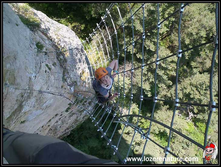 lozere nature via ferrata canourgue filet